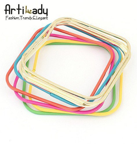 Artilady  fashion square punk bangle set 8pcs multi color  vintage bangle bracelet  5 colors
