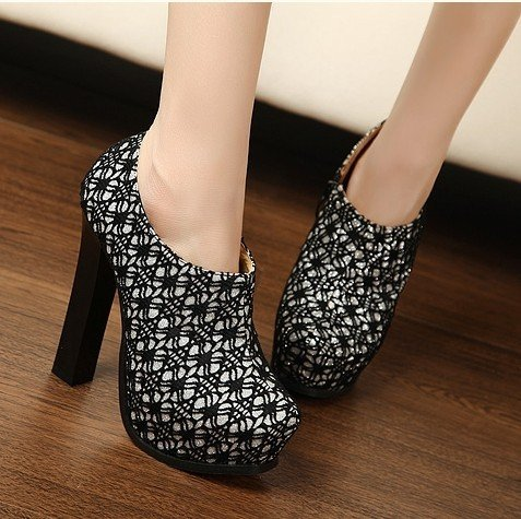 Online Shop New Style Platform High Heel Shoes Sexy Lace Martin