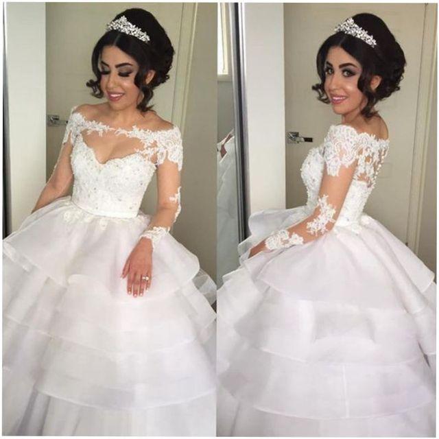 Boat Neck Suknia Asymetryczna Suknia ślubna Suknie ślubne 2017 Długi