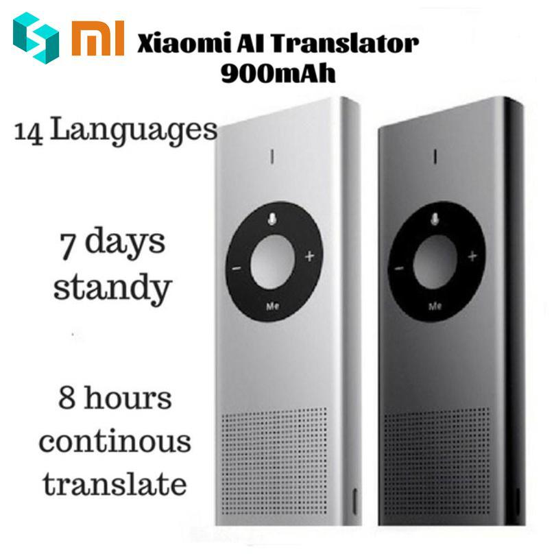 Xiaomi Moyu AI Translator for Travel Study Work Microsoft Translating Engine 14 Languages 7 Days Standby 8H Translate Machine [english version] original xiaomi mijia mi ai translator 14 language 7 day standby 8h continuous microsoft translation engine