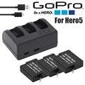 NUEVA Actualización!! batería gopro hero 5 hero5 gopro5 baterías 3-way usb cargador y funda para accesorios gopro gopro hero 5 cámara