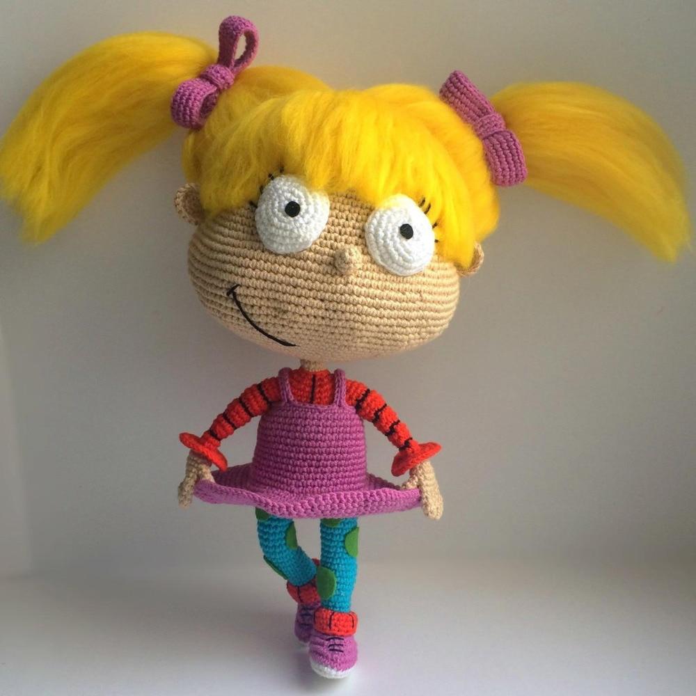 Crochet Toys  Amigurumi  Rattles  Doll Girl  Model  Number  SBY0046