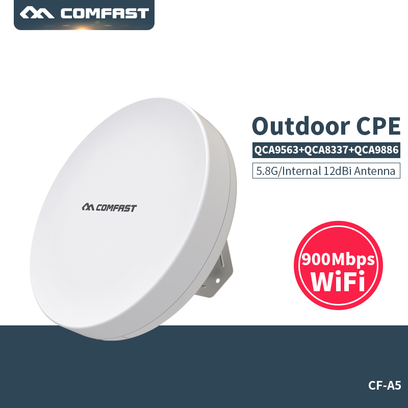 3KM Long Range Outdoor CPE WIFI Router 5.8GHz 900Mbps Wireless AP WIFI Repeater Access Point WIFI Extender Bridge Client Router