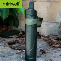 miniwell L600 Straw Water Filter + L600 Filter Replacements(Includes PP Slice, Carbon Filter and Ultrafiltration Filter)