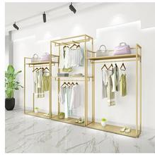 Golden Clothing Shop Shop Shop Shop Shop Shop Shop Shop Decoration Design High Container Shelf shop carol