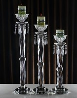 Crystal Candle Holder, tealight candle holders, glass Tea Light Candlestick for wedding decor, home centerpieces