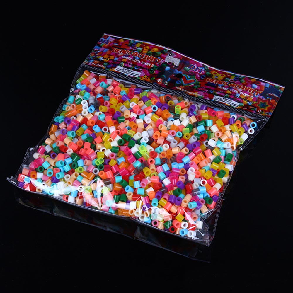 1000pcs 5mm/2.6mm EVA Hama Perler Beads Toy Kids Fun Craft DIY Handmaking Fuse Bead Multicolor Intelligence Educational Toys