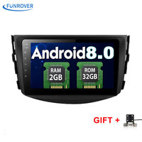 Funrover NEW Android 6 0 Car Dvd Player For Toyota RAV4 Rav 4 2007 2008 2009
