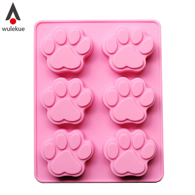 US $2 5 34% OFF|Wulekue The Palm Dog Shaped DIY Silicone Chocolate Soap  Sweet Candy Cookie Jelly Sugar And Ice Tray Mold Pan Mould Tools-in Cake  Molds