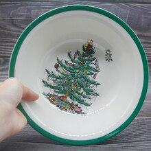 Set of 4 8 inch Christmas Tree Bowl Tableware salad bowl Cold dish mixing bowl Dessert bowl vegetable salad bowl kitchenware thunder group mixing bowl 13 quart