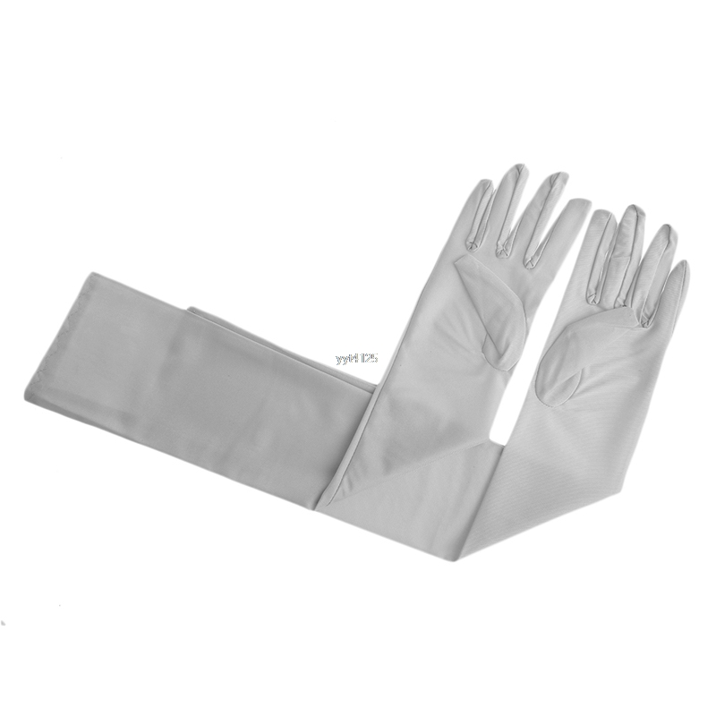 Women Lady Satin Long Arm Finger Elbow Gloves Party Gloves Sun Protection Elegant Soft Solid Fashion Brand 2018 Fashion New NEW