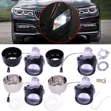 beler 2.5'' H1 socket Left Right Low High Beams Car Mini HID Bi-xenon Projector Halo Lens Kit with Black Silver Headlight Shroud(China)