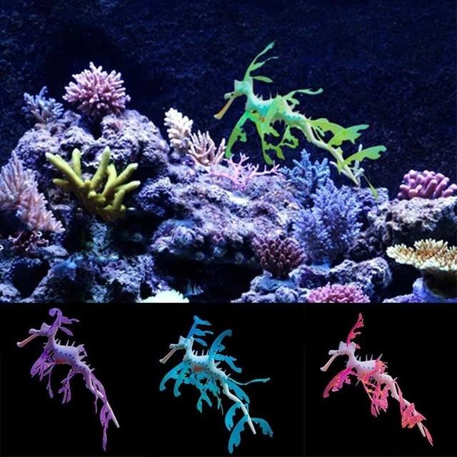 Artificial Aquarium Leafy Sea Dragon Ornament Fish Tank Jellyfish Decor Water Decorations Aliexpress