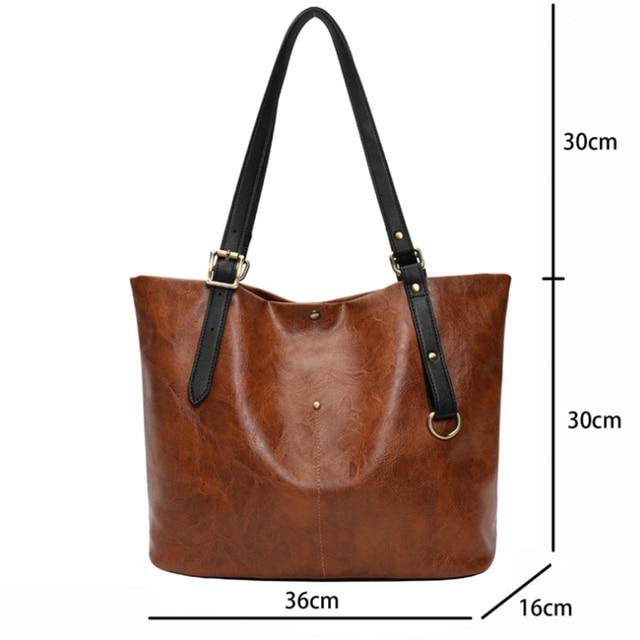 High Quality PU Women Shoulder Bag Female Handbag Causal Totes Shopping All-Purpose Handbag For Women Leather Bag 2