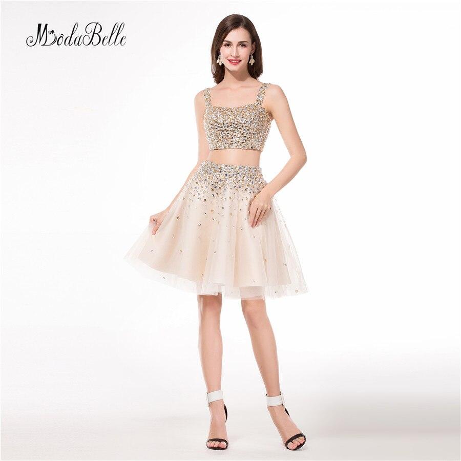 modabelle Hot Short Tulle Champagne   Cocktail     Dresses   Semi Formal Homecoming Graduation Party   Dress   Vestido de Festa Importado