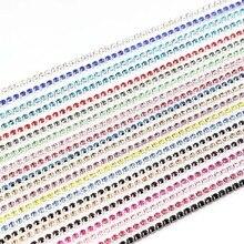 SEA MEW 2.5mm Crystal Sew Metal Claw Sewing Rhinestone Cup Chains Claw  Chains Rhineston Chain fd89bdf88d4e