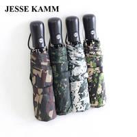 Jesse Kamm envío de la gota nuevo totalmente automático fuerte armada Militar camuflaje para las mujeres hombres gentles encantadora lluvia juego Paraguas