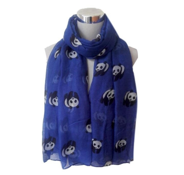 2018 New Cute Panda Animal Infinity Scarf For Women Ladies Gifts Grey Green Colors