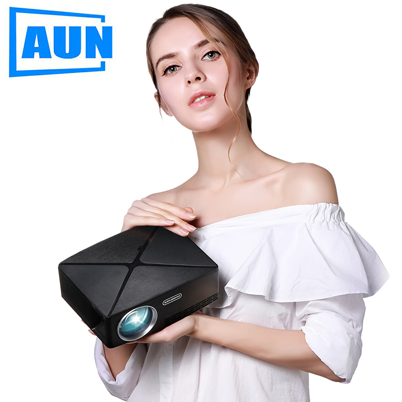 Brand AUN C80 UP. HD MINI Projector, 720P Android Projector, WIFI, Bluetooth. Video Beamer. 1080P, HDMI, USB,Home Cinema aun new hd projector support wifi bluetooth built in android os 4 2 system 3d projector for home cinema led projector v5g5