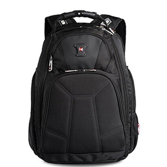 """Swisswin 2015 brand men 1680D nylon 15 - 17"""" laptop backpack swiss business travel notebook backpacks boys shoulder bags"""