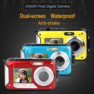 Image 5 - KOMERY WP01 المزدوج الشاشة الرقمية كاميرا مقاومة للماء 2.7K 4800 واط بكسل 16X التكبير الرقمي HD الموقت الذاتي شحن مجاني 3 سنة الضمان
