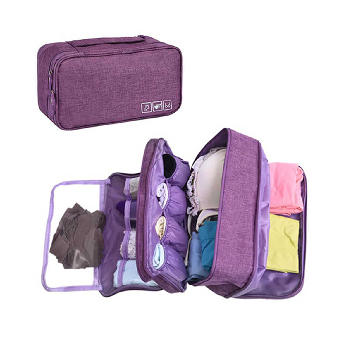 Waterproof Underwear Bra Storage Cases Travel Bag Clothes Socks Luggage Clothes Organizer Holder Case Cosmetic Makeup Container