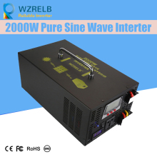 Peak Full Power 2000W Solar Inverter Pure Sine Wave Car 12V/24V to 120V/220V DC AC Voltage Converter
