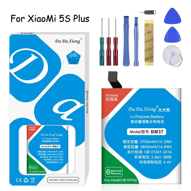 BM37 Xiong Da Da Bateria de Polímero de Lítio Original Para Xiao mi mi mi 5S plus 5S além disso 3800mAh Móvel substituição Da Bateria do telefone