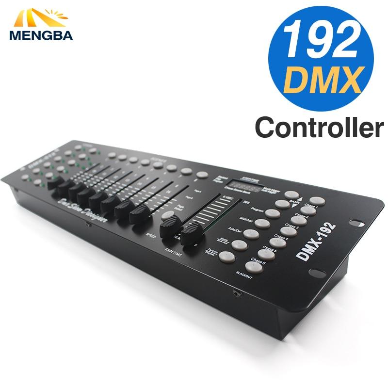 Más nuevo 192 controlador DMX equipo de DJ DMX 512 consola etapa de iluminación LED Par Moving Head spot DJ Controlle