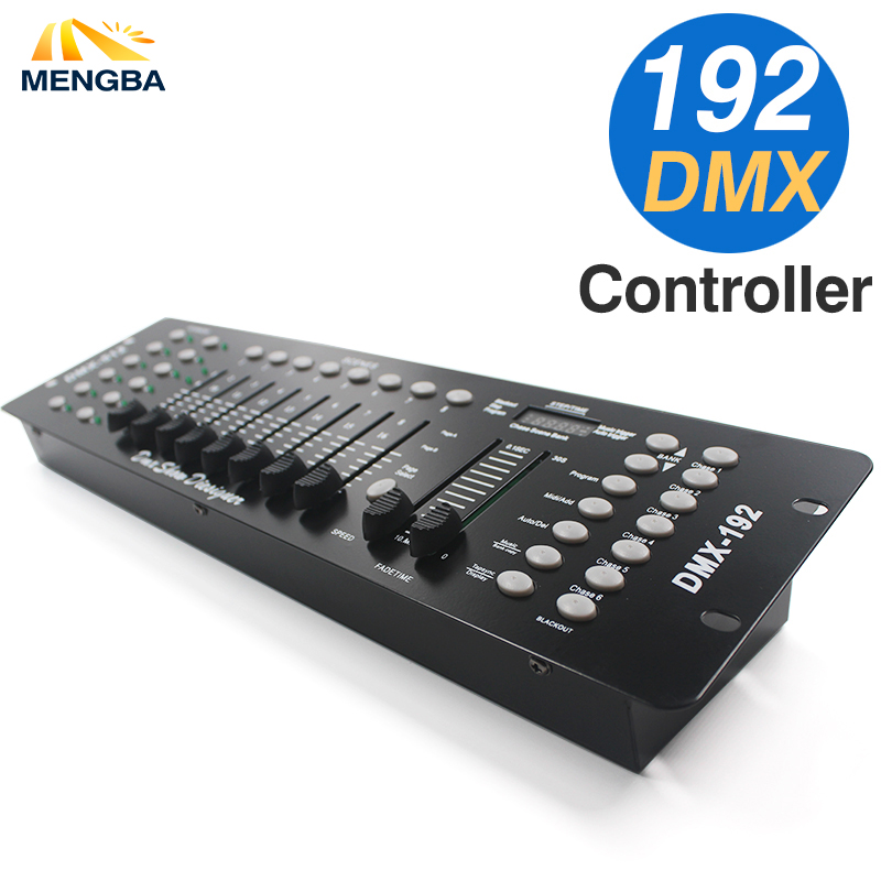RECENTES 192 Controlador DMX Equipamento DJ DMX 512 Fase Movendo A Cabeça de Iluminação Para LED Par Holofotes DJ Console Controlle