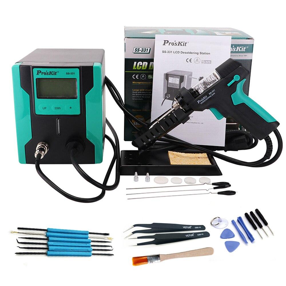 Pro'sKit SS-331H LCD pistolet à dessouder électrique antistatique forte aspiration pompe à dessouder sous vide pour la réparation de circuits imprimés