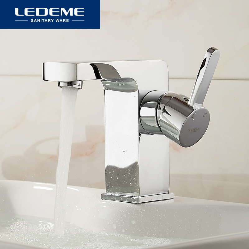 LEDEME Brass Basin Faucet Hot and Cold Water Single hole Single handle Sink Bathroom Mixer Tap Grifos Para Lavabos L1071 hpb square brass basin faucet hot and cold water single hole handle sink bathroom faucets mixer tap grifos para lavabos hp3037
