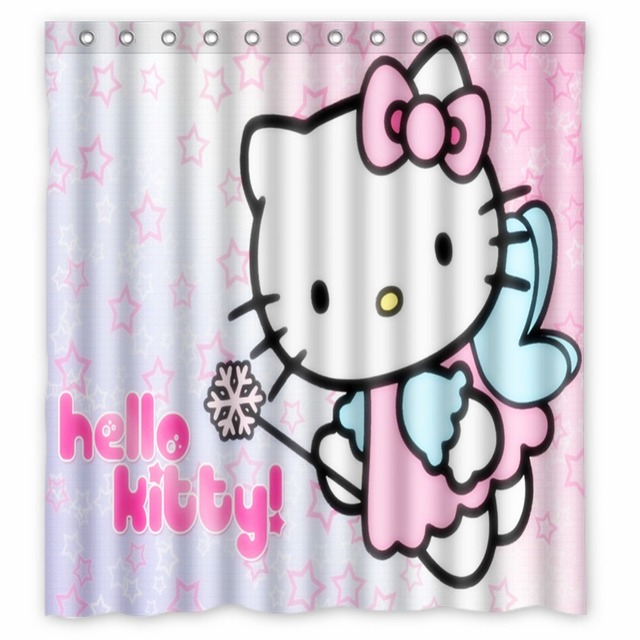 Anime Shower Curtain One Piece Dragon Ball Z Bleach Fairy Tail Naruto Together Hello Kitty Super