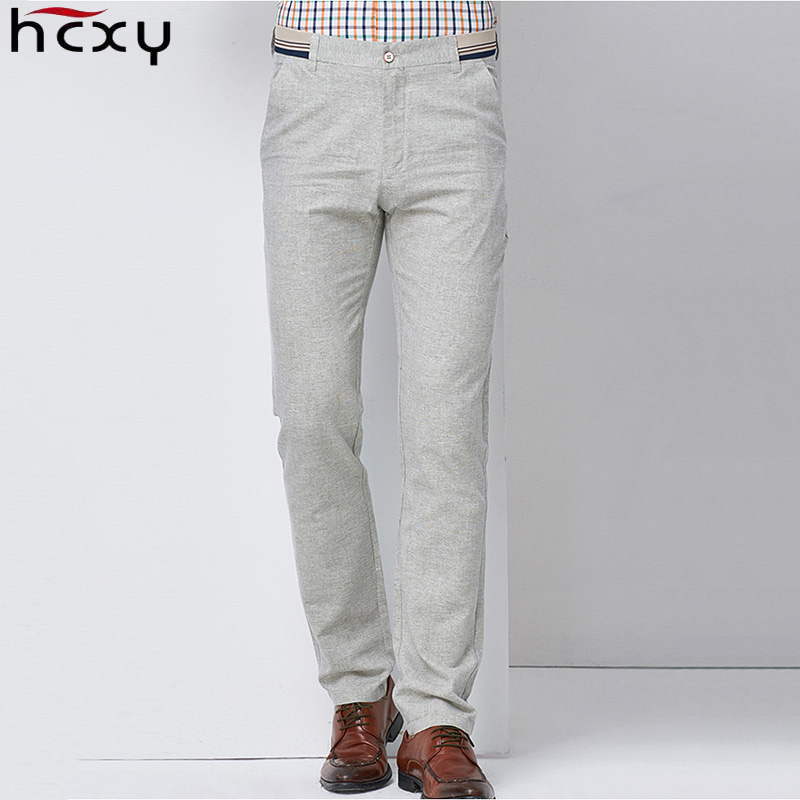HCXY 2020 summer Thin Linen Men Pants Male Commercial Loose Casual Business Trousers Men's Clothing Straight Man Pants Size 40