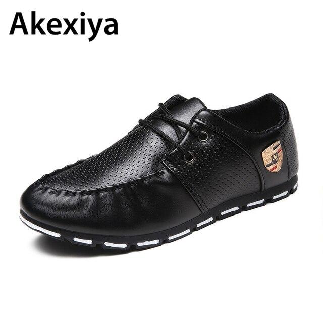 frühling Leder Schuhe herren Weiß 2019 Schwarz Herbst PU Business E92IHWDY