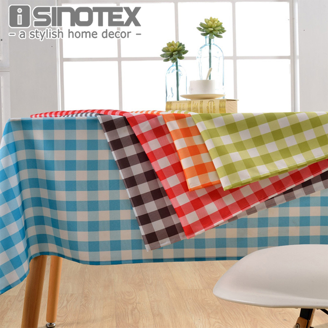 Lattice Party Table Cover Cloth Plaid Tablecloth Yarn Dyed Plain Tablecloths  Home Dining Room 1pcs/