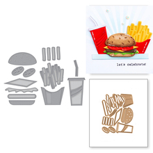 Hamburger French Fries Cola Set Metal Cutting Dies For DIY Scrapbooking Embossing Album Paper Cards Making Crafts New 2019
