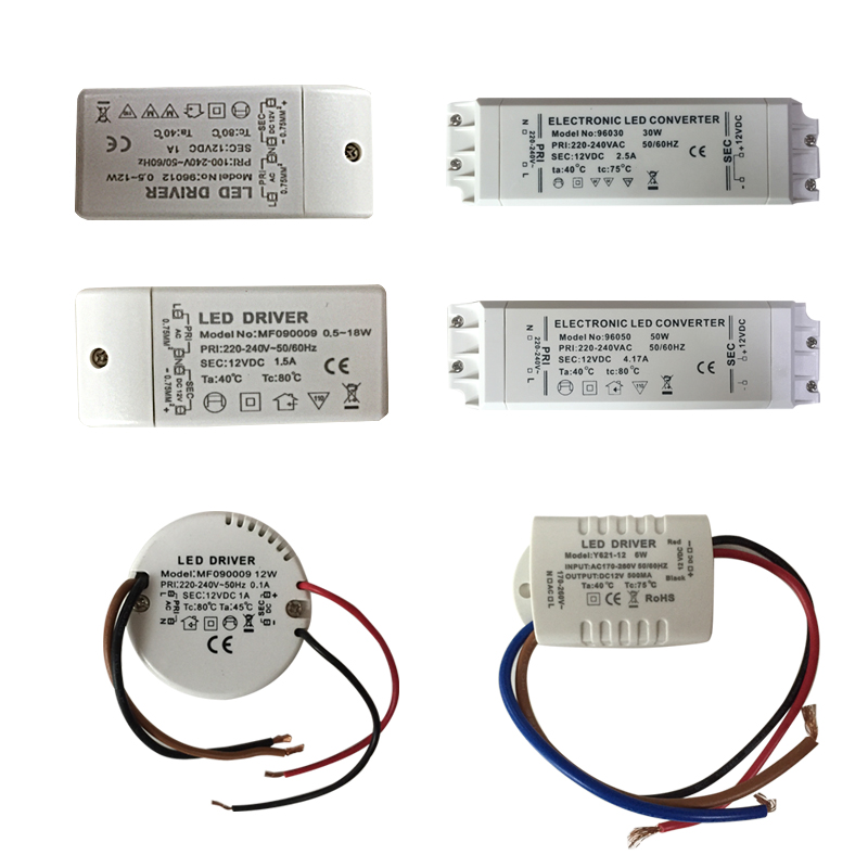 2020 Led Driver Transformer 50w 30w 18w 12w 6w Dc 12V Output 1A Power Adapter Power Supply For Led Lamp Led Strip Downlight