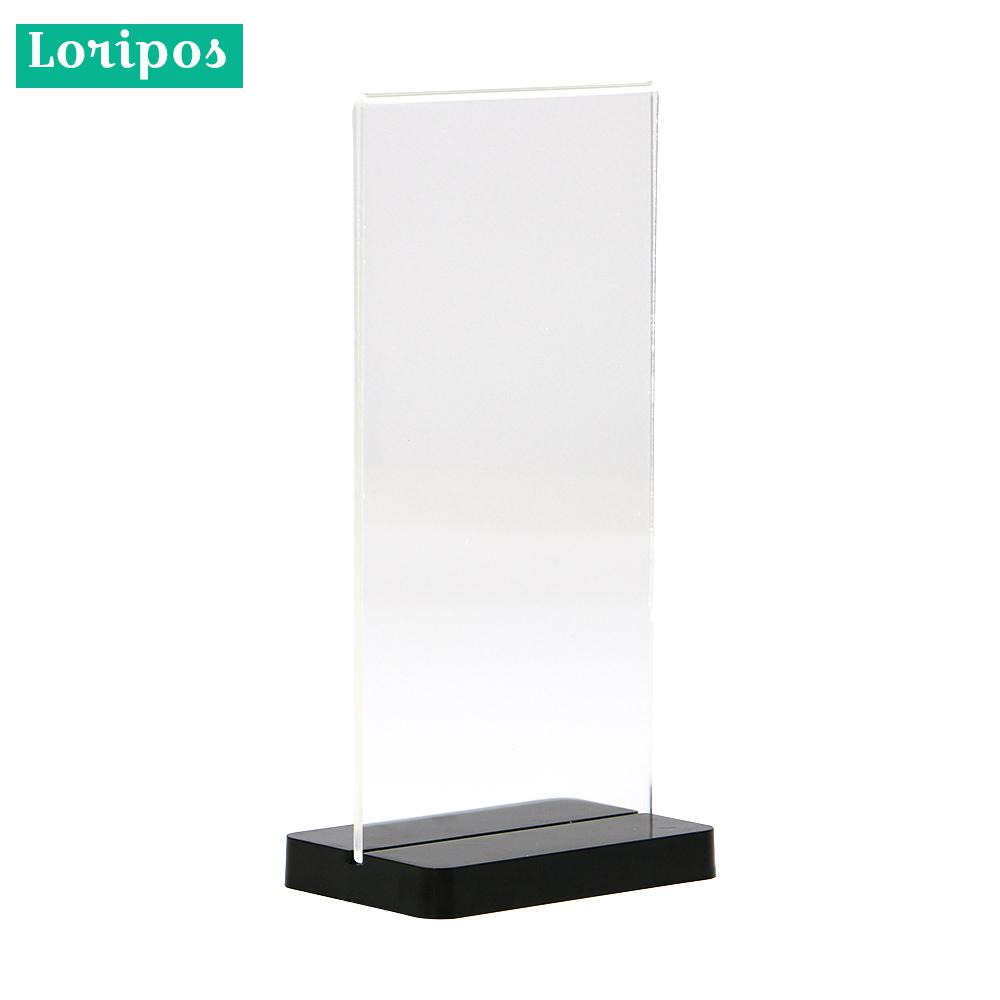 10X20CM Table Acrylic Menu Display Stand Acrylic Men Stand Black Clear Price Tag Display Desk Sign Holder Label Holder Frame