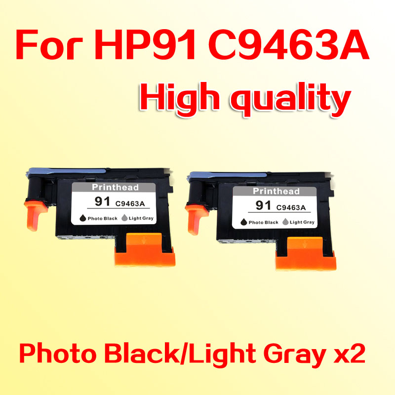 2pcs printheads for hp91 C9463A printhead for hp 91 Designjet  Z6100 Z6100P PK/LG for hp 91 designjet printhead c9460a c9461a c9462a c9463a for hp designjet z6100 z6100ps printer 100% genuine brand new