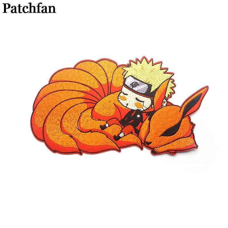 Patchfan Naruto applique patches diy iron on para shoe jeans bag shirt clothes accessory punk stickers embroideried badge A2131