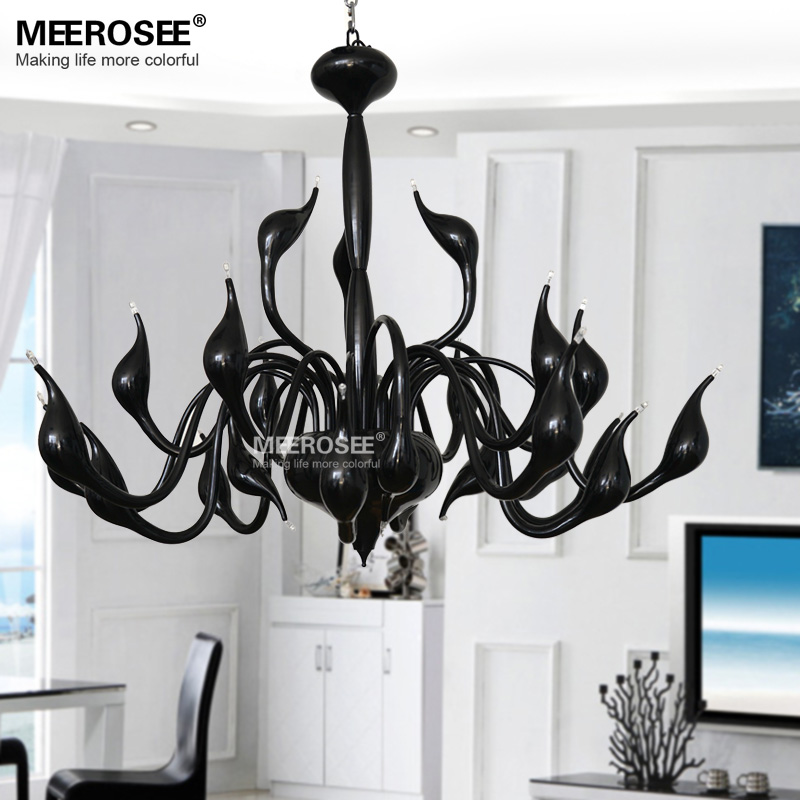 Modern Swan Chandelier Hot Sale White Swam Suspension Lamp Light Lustre Black Hanging Swan Chandelier for Living Dining room принтер лазерный kyocera p3050dn лазерный цвет черный [1102t83nl0]