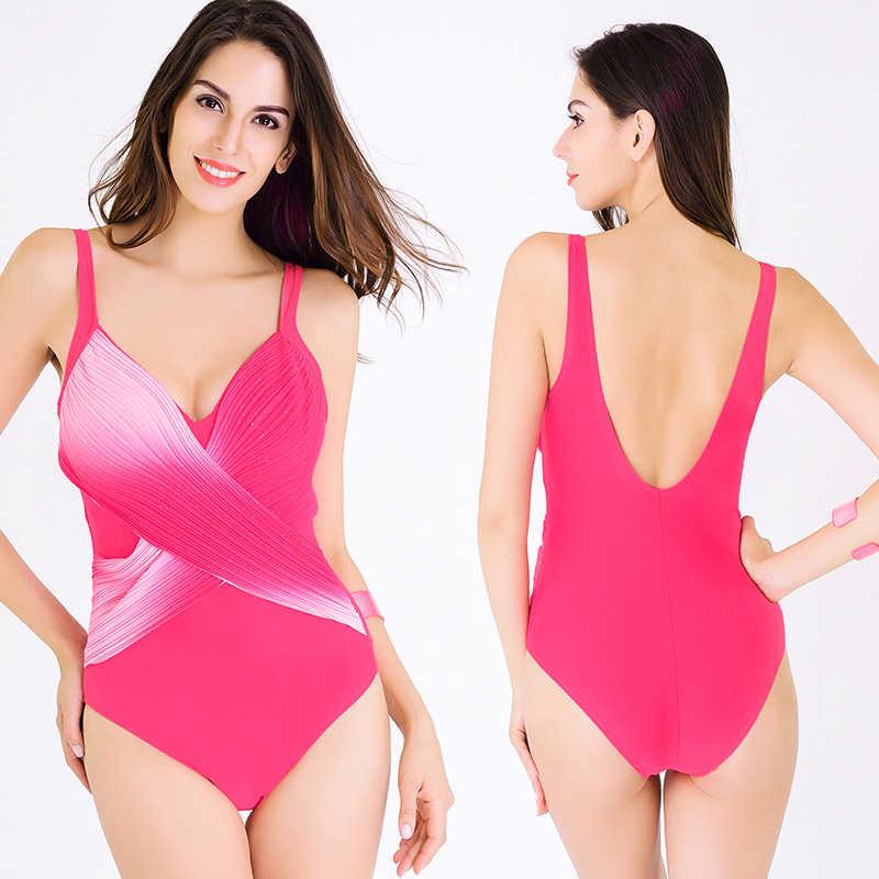 ФОТО 2017 New One Piece Swimsuit Women Plus Size Swimwear Leopard Print One Piece Swimwear Push Up Swimming Suit For Women Swim Suit