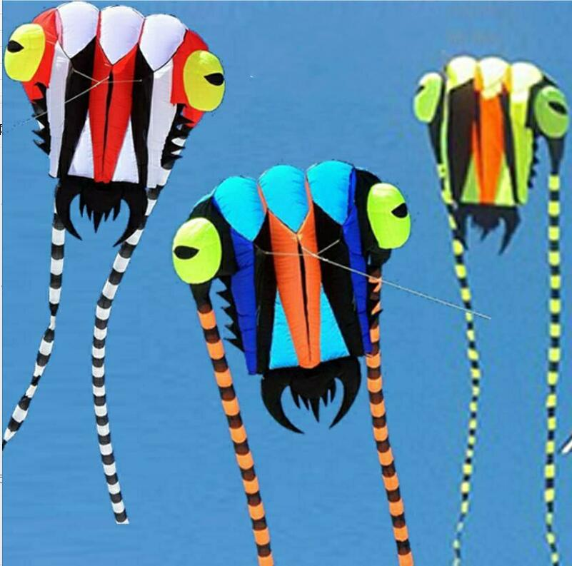 New Arrive Outdoor fun Sports Single Line 2sqm Power Software Trilobites Kite Animal Kites Factory Outlet