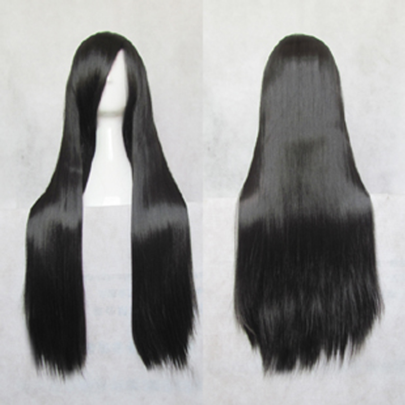 Isayama Yomi 80cm Black Long Straight Synthetic Cosplay Costume Wig + Wig Cap