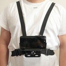 Universal soporte de clip para teléfono con pecho Gopro cinturón/correa para la cabeza de iPhone Samsung Huawei xiaomi smartphone para escalada ciclismo