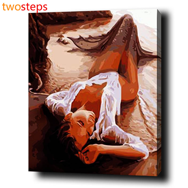 TwoSteps Mermaid Coast Diy Digital Canvas Oil Painting By Numbers Pictures Coloring By Numbers Modern Large Paint By Number Kits