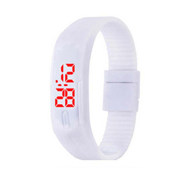 d8b85dd1c3d placeholder 2018 Doce Cor relogio feminino Pulseira de Silicone LED Relógios  Data Sports Relógio de Pulso para