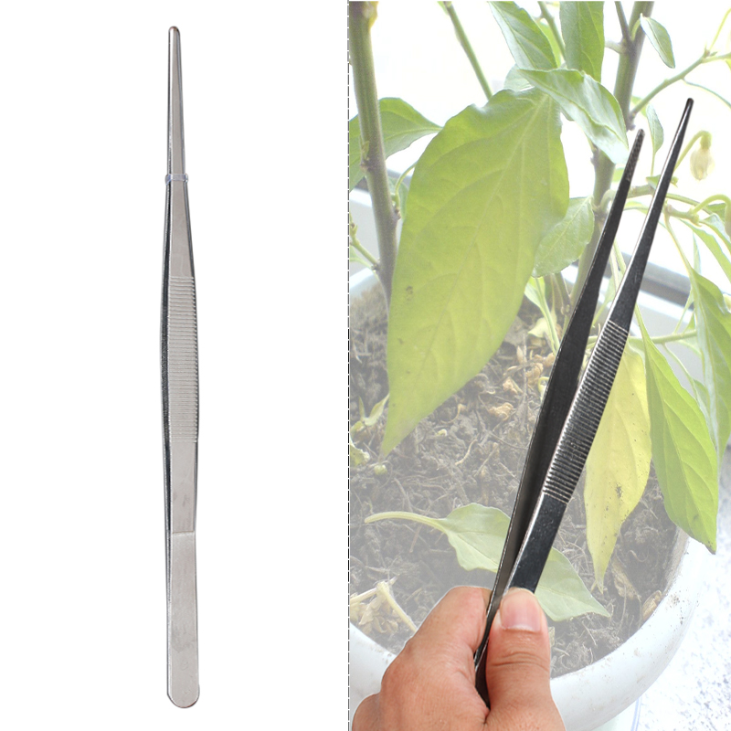1pcs Barbecue Stainless Steel Long Food Tongs Straight Home Medical ...