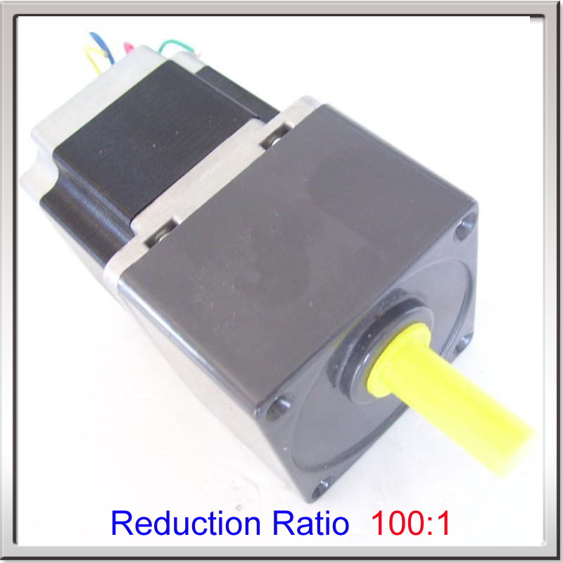 CE ROHS 57Deceleration stepper motor 56mm length motor stepper motor 2phase gearbox motor reduction ratio 100:1 regulating speed